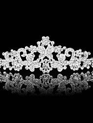 The Butterfly Alloy Bride Pearl Diamond Crown The New High-End Wedding