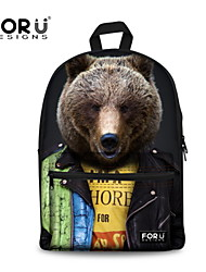 FOR U DESIGNS Cotton Casual Bear Shoulder Bags/Laptop Backpacks/School Bags