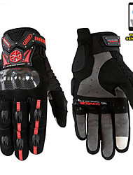 Motorcycle Scooter Touch Gloves Summer Carbon Fiber Protective Racing Gears -Scoyco
