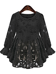 Women's Lace White / Black Blouse (cotton)
