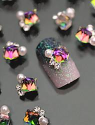 - Finger - Nail Schmuck - Metall - 5pcs Stück - 1*1 cm