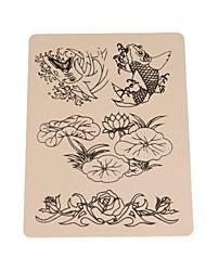 basekey 10pcs peixes logotipo tatuagem pele falso para a prática de tatuagem 15 x 20cm