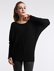 Women's Autumn Winter Fashion Plus Size Round Collar Sexy  Cotton Knitting Casual Base Blouse