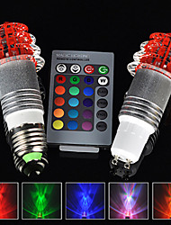 E27 CU10 3W RGB 16 Color Changing LED Crystal Light Bulb Lamp+IR Remote Control
