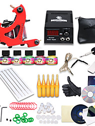 Starter Tattoo Kit 1 Machine 6 Color Inks Power Supply