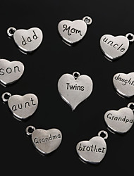 Charms / Pendants Metal Heart Shape As Picture 4-5pcs