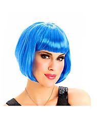 Halloween bule peluca del partido del color de la muchacha fresca bobo de las mujeres cortas más vendido