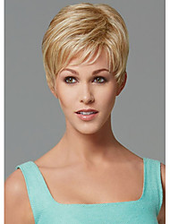 Europe and the United States Short Blonde Straight Synthetic Wig Side Bang