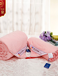 Pink New Summer Blanket Quilt 100% Cotton Quilt Pure Silk Blanket Comforter Home Textile Silk Quilts Bedding Sets