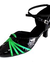 Customized Women's Modern Dance Shoes Customized Heel Closed Toe Dance Shoes