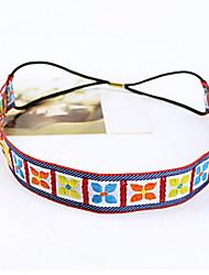 Women Folk Embroidery Clover Headband Headwear