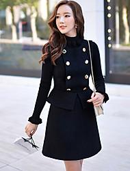 Robes ( Acrylique / Polyester / Laine ) Informel / Soirée / Travail Support à Sans manche pour Femme