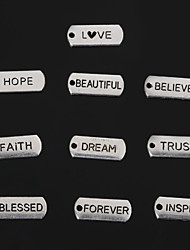 Beadia Vintage Faith Inspire Love Trust Beautiful Blessed Dream Hope Forever Believe Metal Charm Pendants 10 Styles