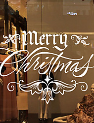 Christmas Decoration Wall Stickers Window Stickers Holiday Santa Claus Ornaments Christmas Trees Bells