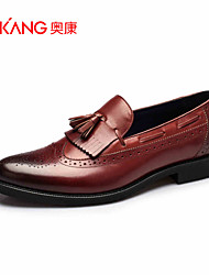 Men's Shoes Leather Outdoor / Office & Career / Casual Loafers Outdoor / Office & Career / Casual Black / Blue / Burgundy