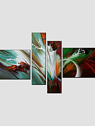 Canvas Oil Painting Set of 4 Modern Abstract ,  Stretched Frame Ready To Hang SIZE:50*70CM*2PCS 25*70CM*2PCS.