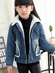 Girl's Blue Jeans,Solid Denim Winter / Spring / Fall