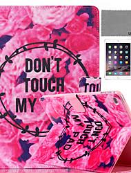 lexy® motif fleurs histoire PU cas de stand en cuir flip avec protecteur d'écran et un stylet pour iPad mini-4