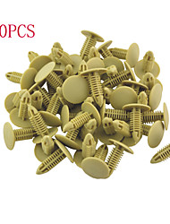 50 Pcs Auto Car 17mm Head Dia Push in Plastic Rivets Car Door Panel Retainer Fastener