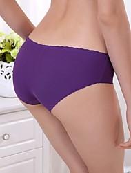 Femme Couleur Pleine Sans couture / Shorts & Slips Garçon / Sous-vêtements Ultra SexyCoton / Polyester / Soie Glacée