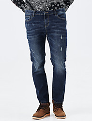 LEEPEN New Winter Characristic Slim Jeans.