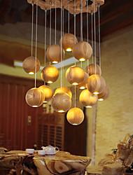 Luzes Pingente - Madeira/Bambu - Estilo Mini / Lâmpada Incluída -Quarto / Quarto de Estudo/Escritório / Quarto das Crianças / Quarto de