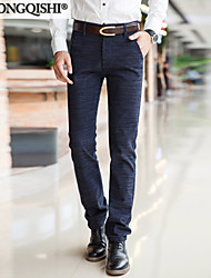 AOLONGQISHI® Men's Suits,Casual Solid Cotton HD8003-1
