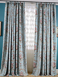 Country Curtains® Blackout Printing Flower Three Color Curtains Drapes Two Panel
