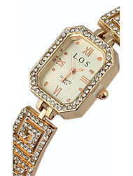 Women's Fashionable Style Alloy Analog Quartz  round dial crystal Bracelet Watch Cool Watches Unique Watches