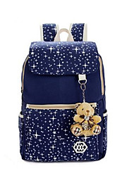 Women Canvas Weekend Bag Backpack - White / Pink / Blue / Green / Black