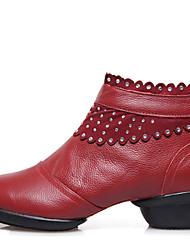 Женская обувь - Кожа - Номера Настраиваемый ( Черный / Красный ) - Современный танец