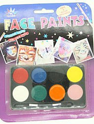 Halloween Fancy Party Clown Face Painting Greasepaint 8 colors Make Up Set Prop  LC-1   5/pcs