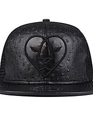 DEEDOOWEAR Black Pu Leather New  Ostrich Asian Limitted Edition  Mesh Snapback Era Cap