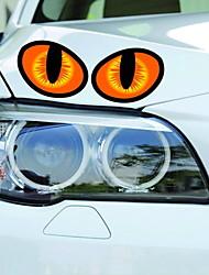 pegatinas coche pegatinas oculares decoración de la etiqueta engomada del cuerpo de coche 3d de gato