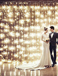 Christmas Curtain Ktv Bars Wedding Twinkle Waterfall Lights Decoration Lamps Waterproof String Light 3*3M 200Led