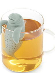 Love Cartoon Card Manatee Tea Maker