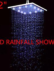 Contemporâneo Chuveiro Tipo Chuva Níquel Escovado Característica for  LED / Efeito Chuva , Lavar a cabeça
