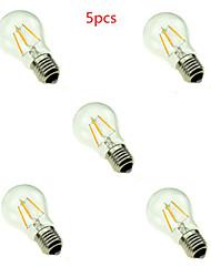 4W E26/E27 Ampoules à Filament LED A60(A19) 4 LED Haute Puissance 400LM lm Blanc Chaud Blanc Froid Décorative AC 85-265 V 5 pièces
