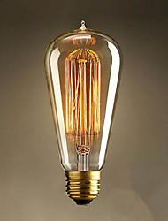 E27 40W ST64 Straight Wire Drop Edison Tungsten Art Deco Classical Light Source