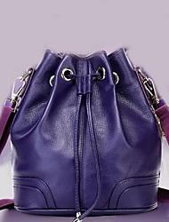Women Cowhide Casual / Outdoor Shoulder Bag Purple / Brown / Black