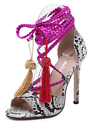 Plus Size Shoes Woman High Heels Pumps 2015 Sexy CROCO Women Shoes Lace Up High Heels Pointed Toe Dress Shoes
