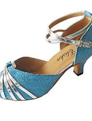 Латинской настроены женские игристое / блеск верхней производительности танцевальной обуви