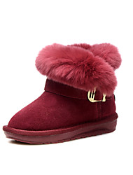 Baby Shoes Wedding / Outdoor / Dress / Casual Suede Boots / Fashion Sneakers Burgundy