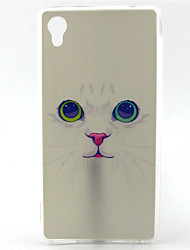 For Sony Case Pattern Case Back Cover Case Cat Soft TPU for Sony Sony Xperia M4 Aqua