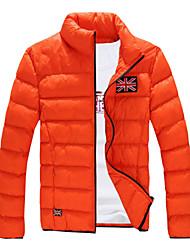 Men's Stand Coats & Jackets , Cotton / Cotton Blend Long Sleeve Casual Fashion Winter LEMON