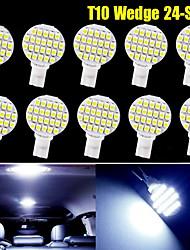 10 x blanc froid t10 coin 24 cms rv aménagement paysager conduit ampoules W5W lumière 921 168 194