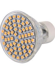 1 pezzi gu10 5w 60 smd 3528 400-500lm bianco caldo / bianco freddo led spot spot ac 220-240 / 110-130 v