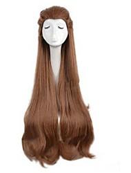 más vendido europa y los estados unidos consejos de belleza marrones para cosplay peluca de pelo lacio