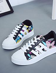 Scarpe Donna - Sneakers alla moda - Tempo libero / Casual - Comoda - Plateau - Finta pelle - Nero / Bianco