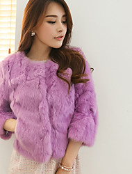 Women Rabbit Fur / Faux Fur Top , Without Lining